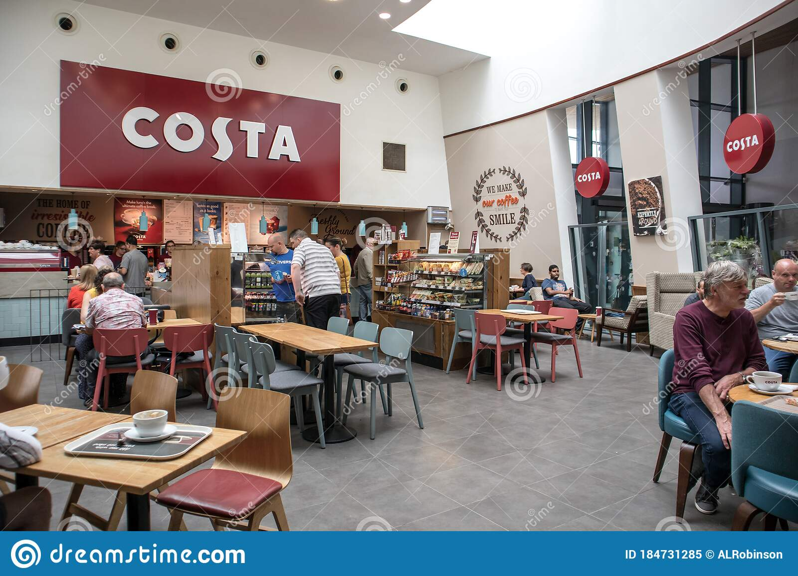 People Inside Costa Coffee Cafe Shopping Mall Centre Service Station Food Court Open Plan Area Editorial Image Image Of Dinner Fast 184731285