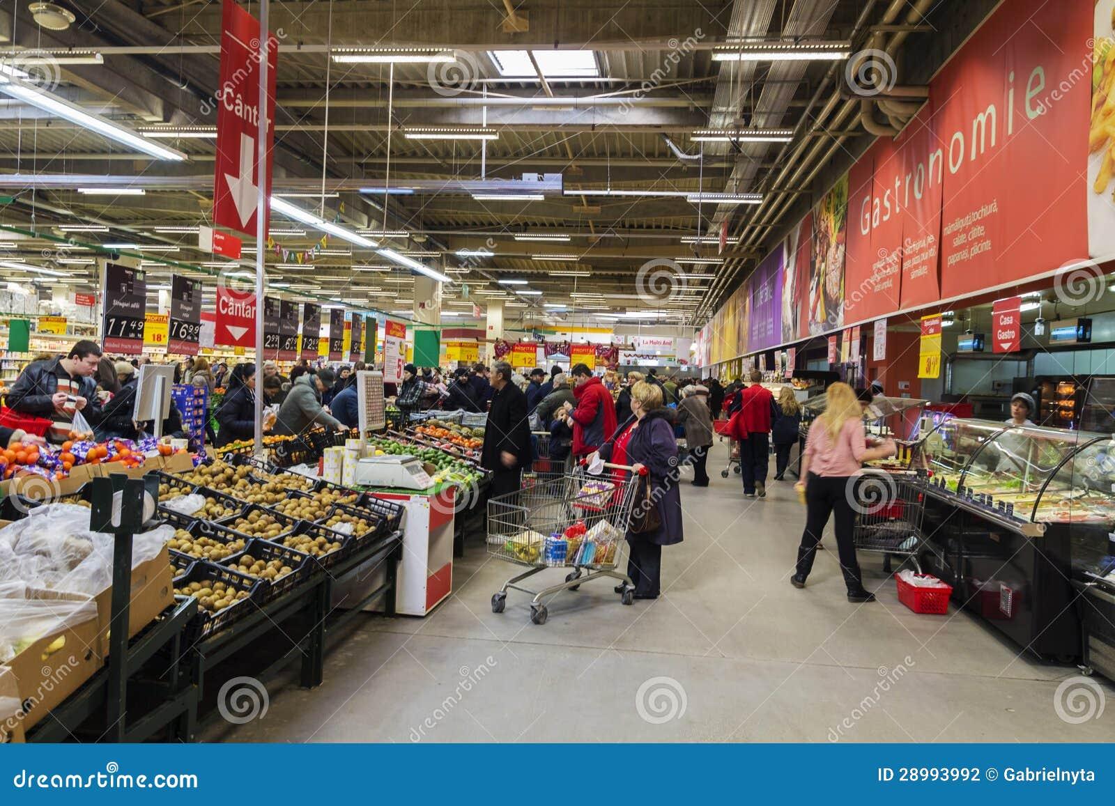 People inside hypermarket