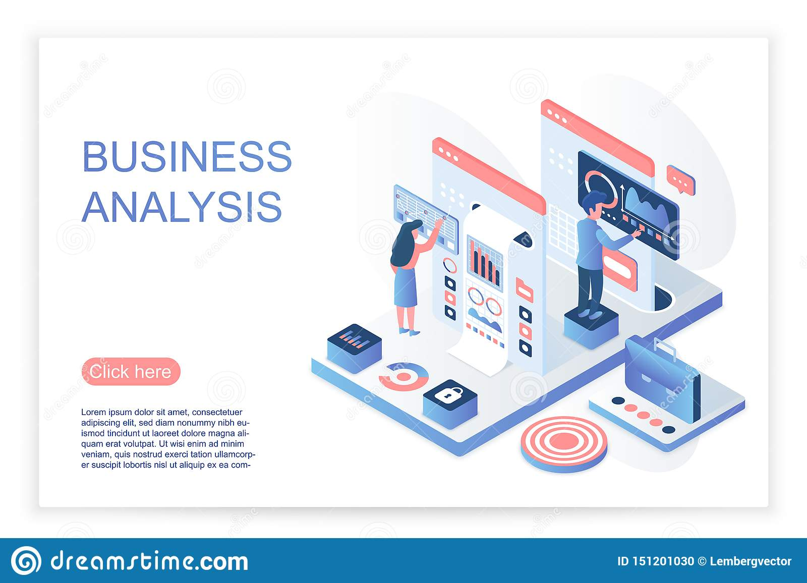 People interacting with virtual screen, analyzing business data and charts. Business data analysis website page
