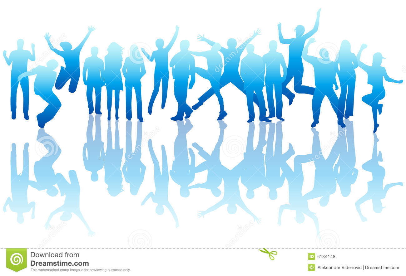 People Jumping Royalty Free Stock Photos - Image: 6134148