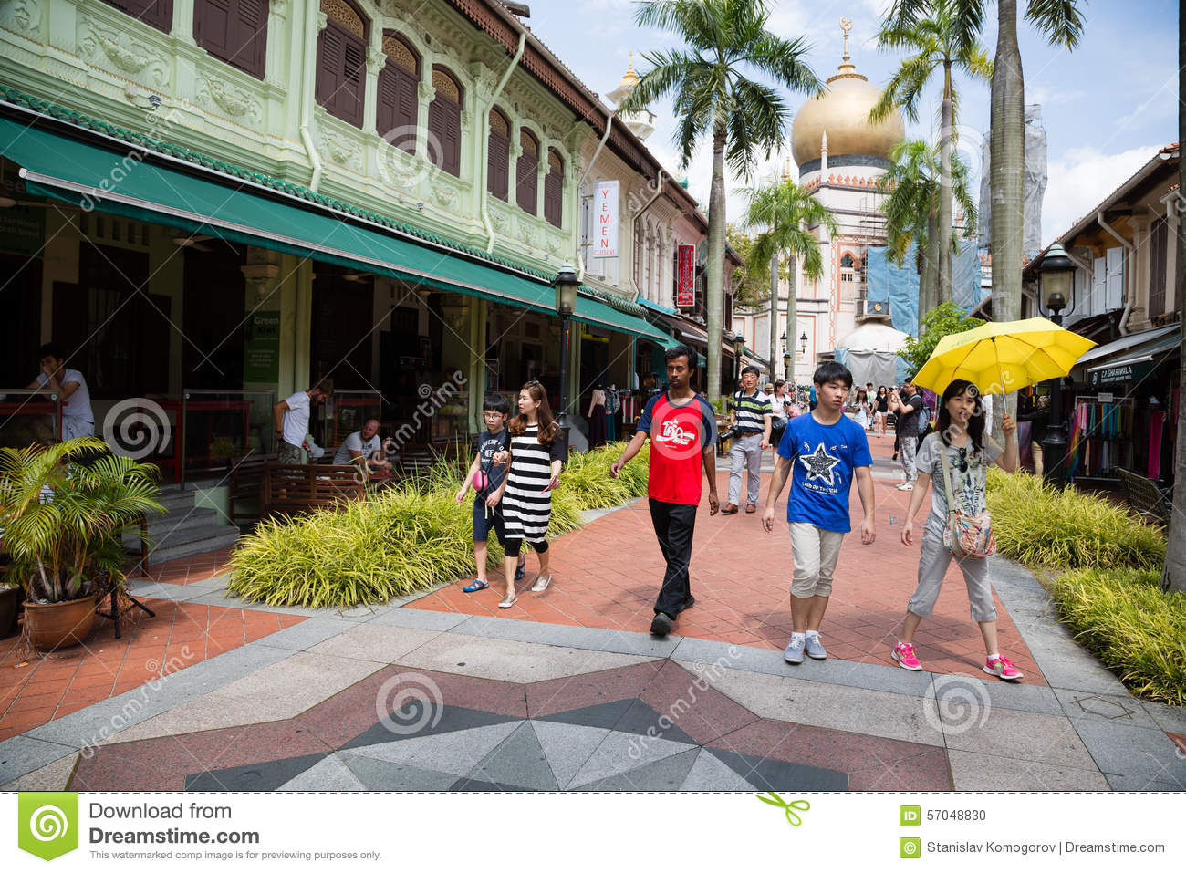 People in the Kampong Glam, Singapore