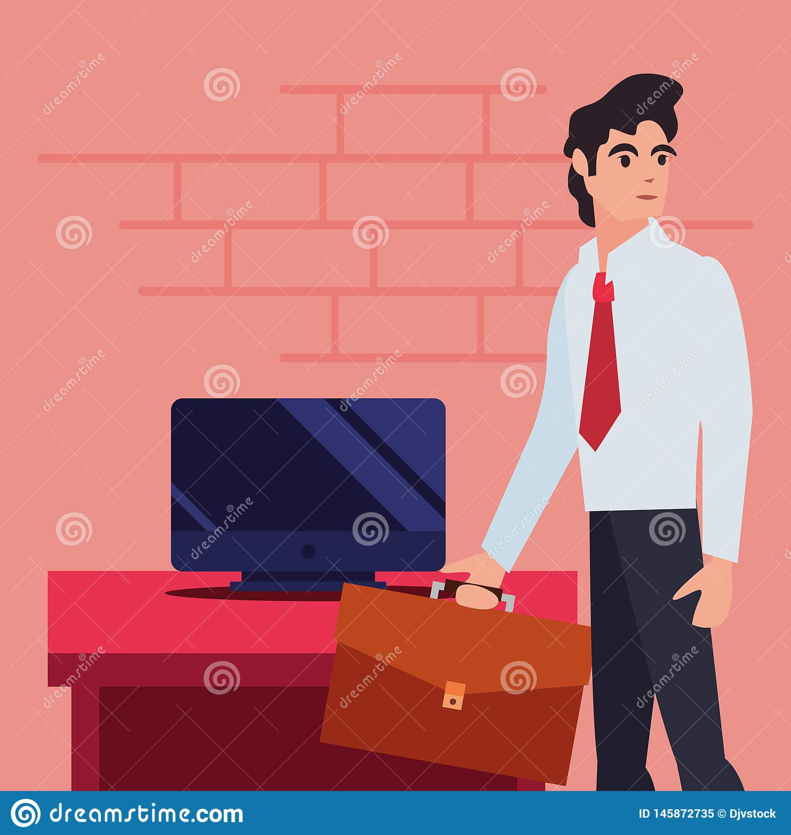People labour day. Businessman profession computer labour day vector illustration design royalty free stock photo