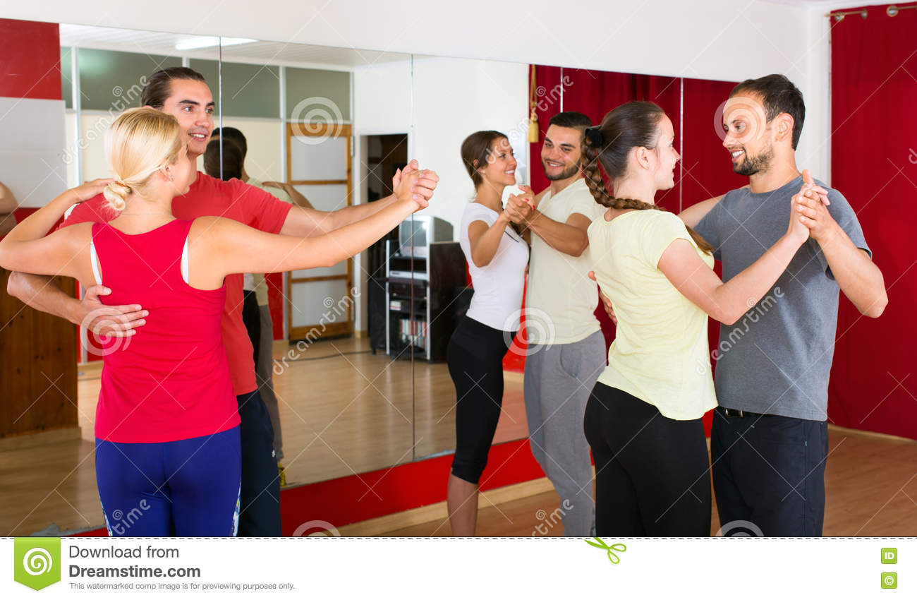 People Learning To Dance Waltz Stock Photo - Image: 81422672