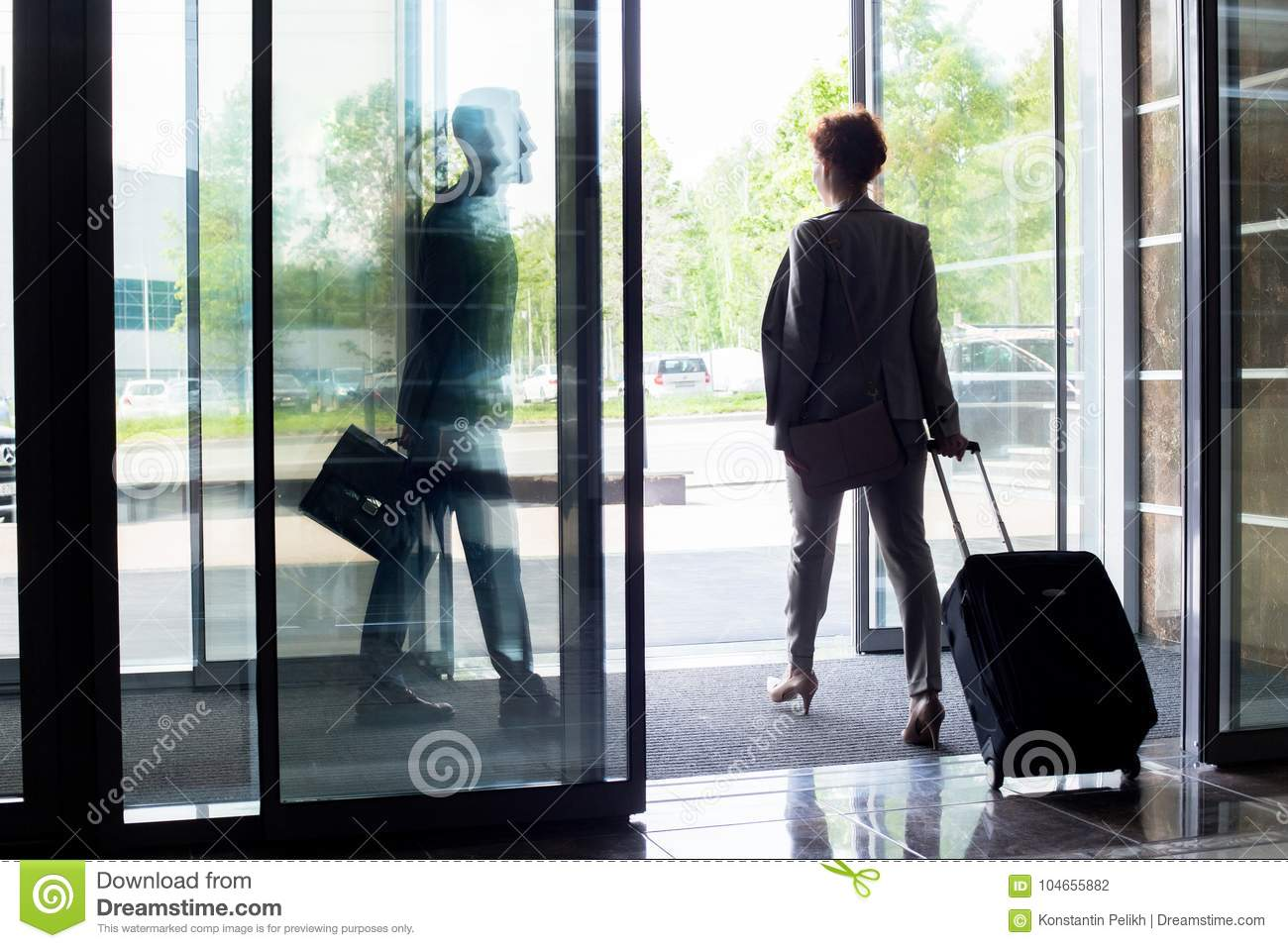 People Leaving Hotel Stock Photo Image Of Length Businesswoman