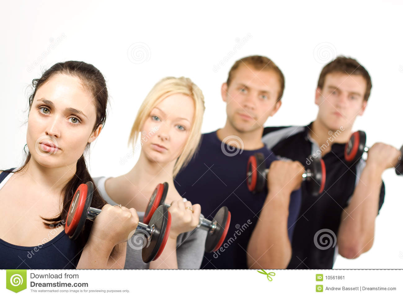 people lifting weights stock image image of sporty