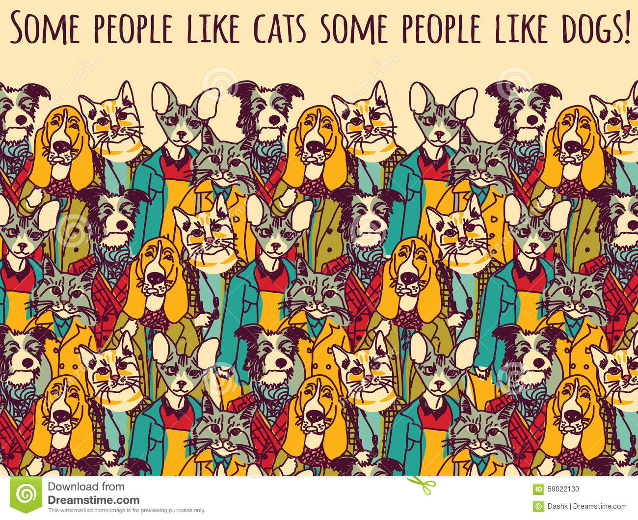 Color cats like - People Like Cats And Dogs With Sign Color
