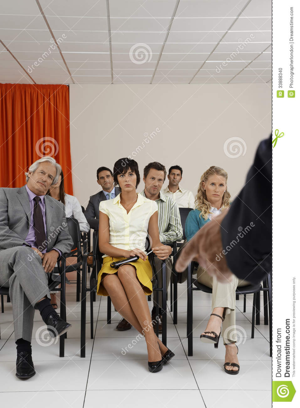 Fantastic People Listening To Seminar In Conference Room Stock Photo Home Interior And Landscaping Ponolsignezvosmurscom