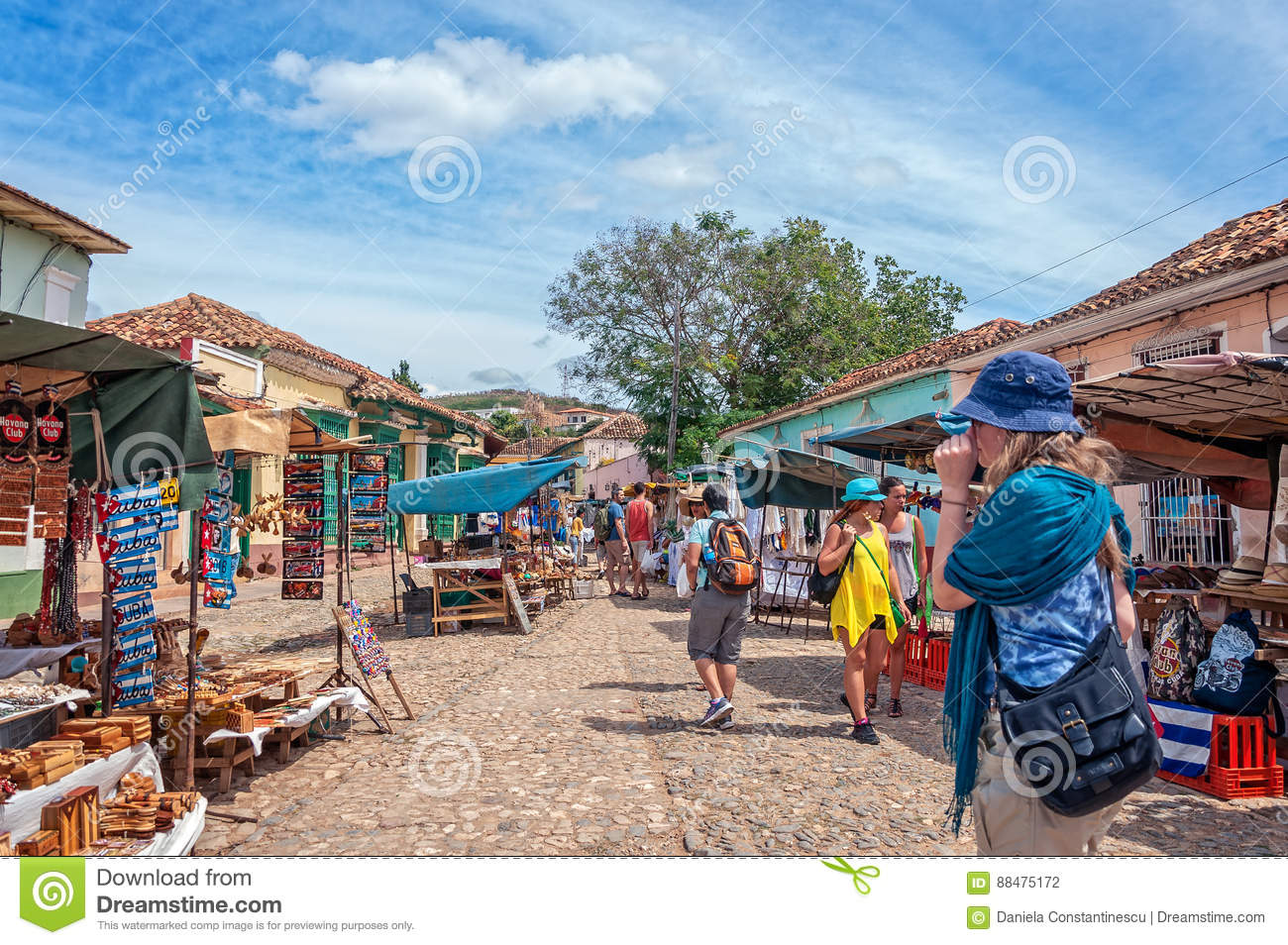 People at a market in Trinidad, Cuba