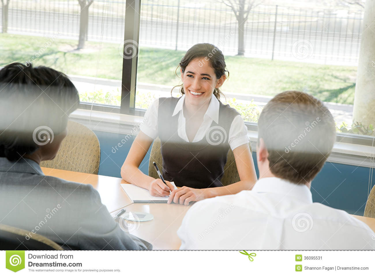 People in meeting