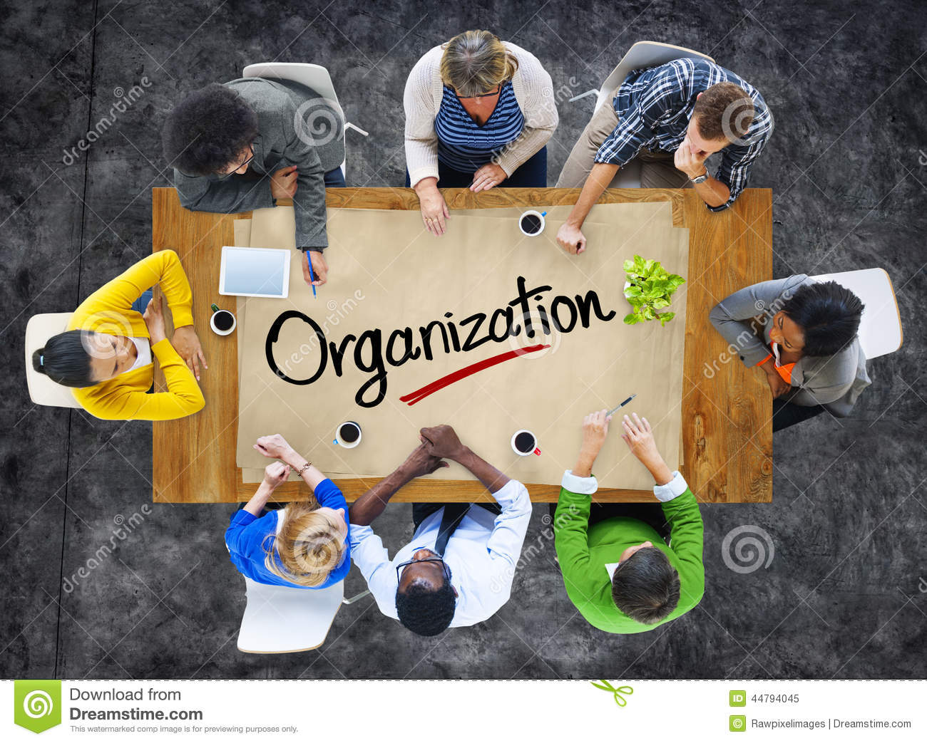 People in a Meeting and Organisation Concepts
