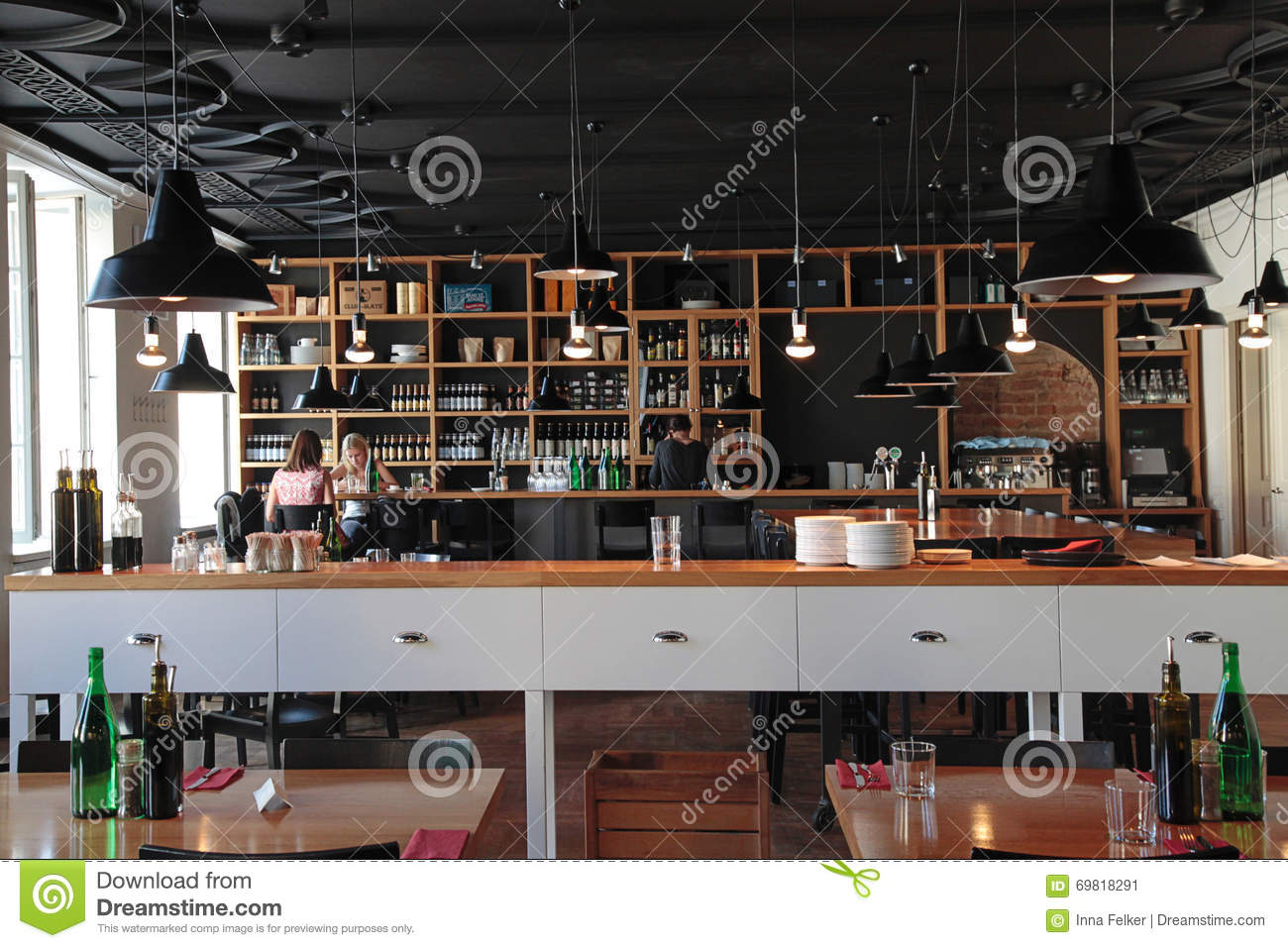 modern cafe interior editorial stock image - image: 59648244