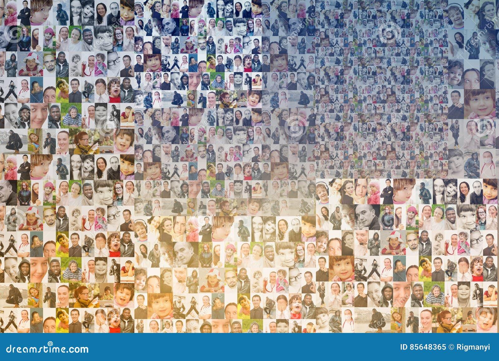 People mosaic background