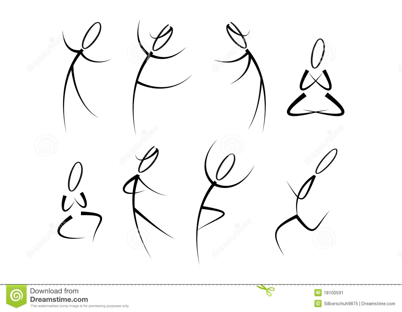 People in movement (fitness, sports, yoga, ...)