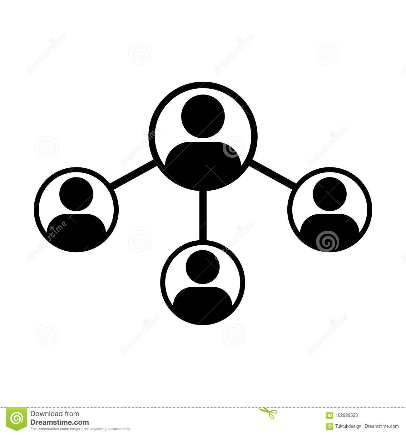 People Icon Vector Male Social Network Share Connection Glyph