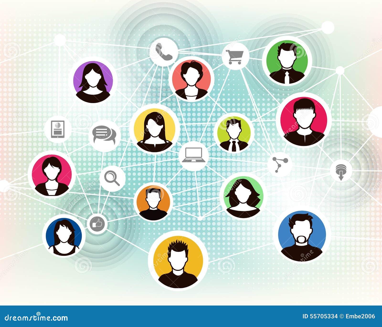 People Online Background Stock Vector - Image: 55705334