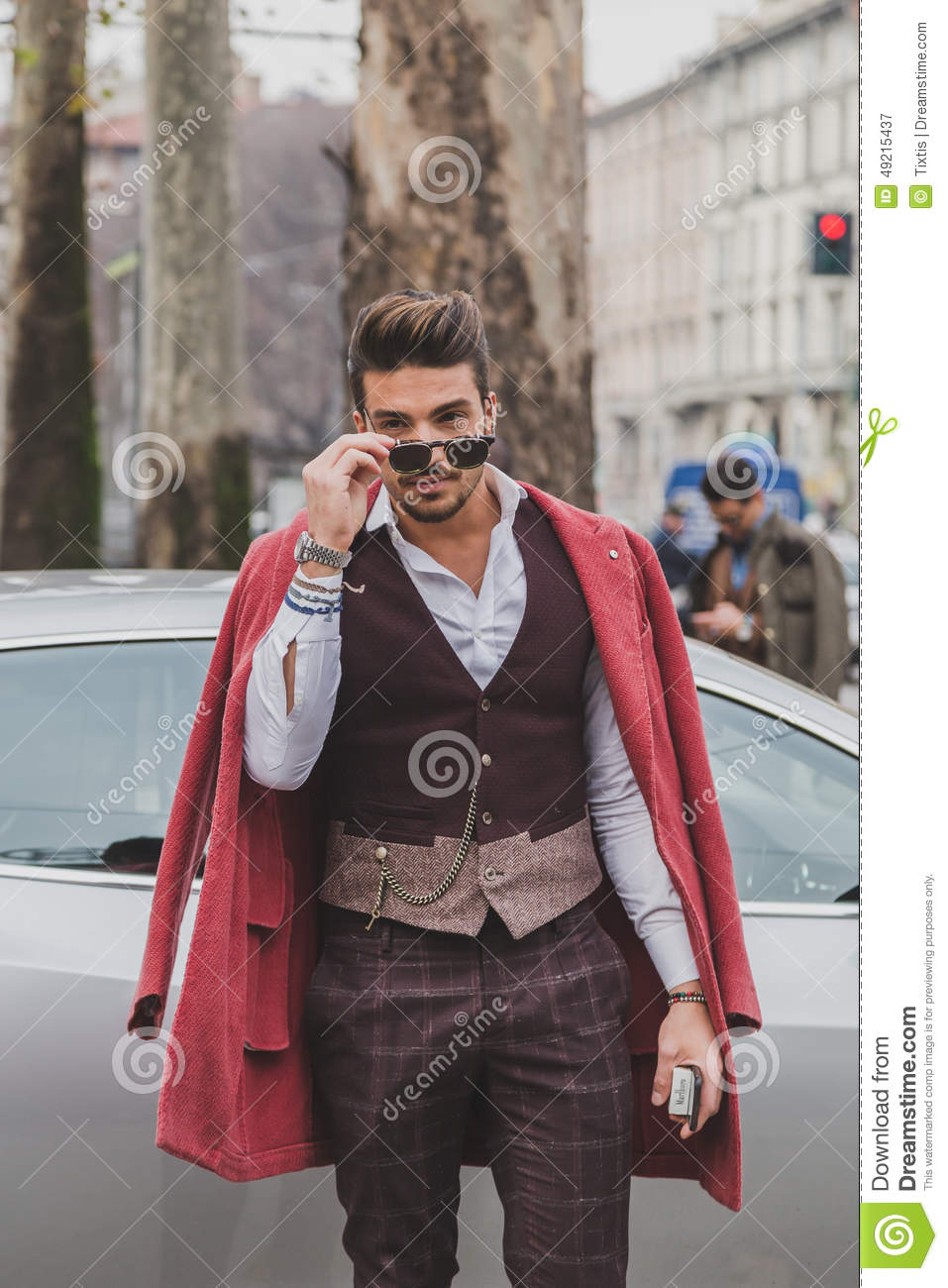 People Outside Gucci Fashion Show Building For Milan Men S Fashion Week 2015 Editorial
