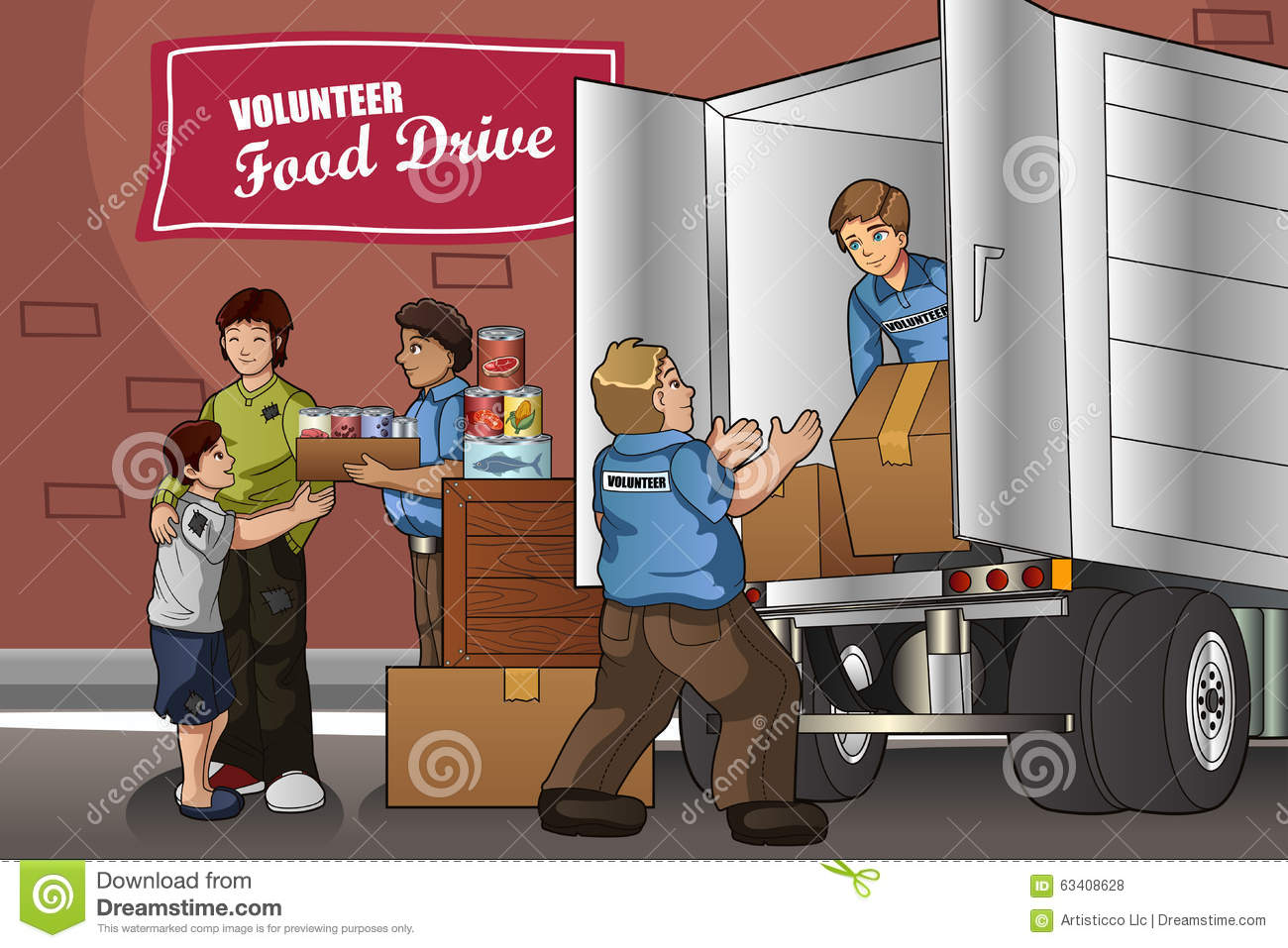 people packing up donation boxes stock vector image canned food clip art borders canned food clipart png