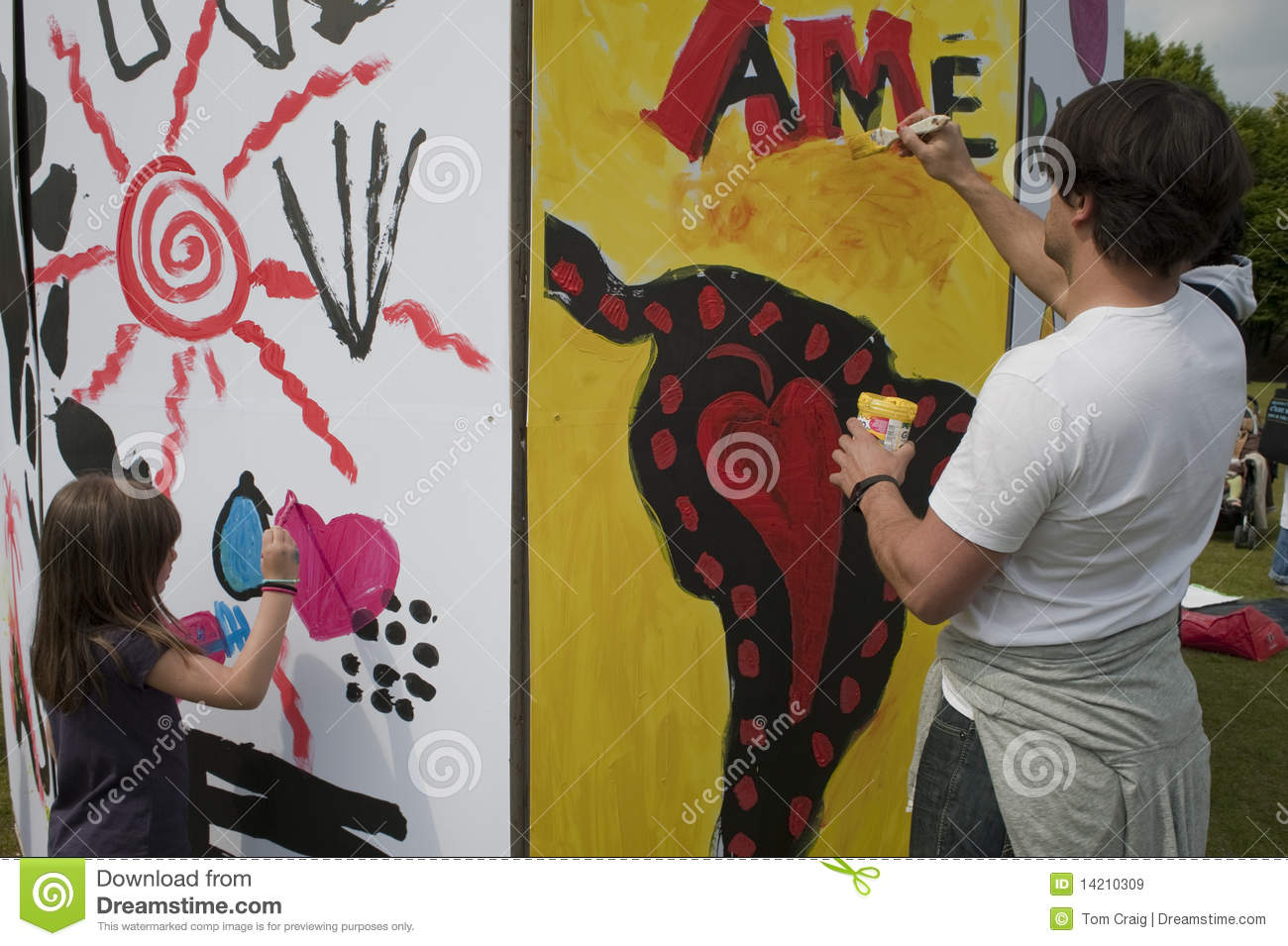 People Paintintg Wall editorial stock image. Image of project - 14210309