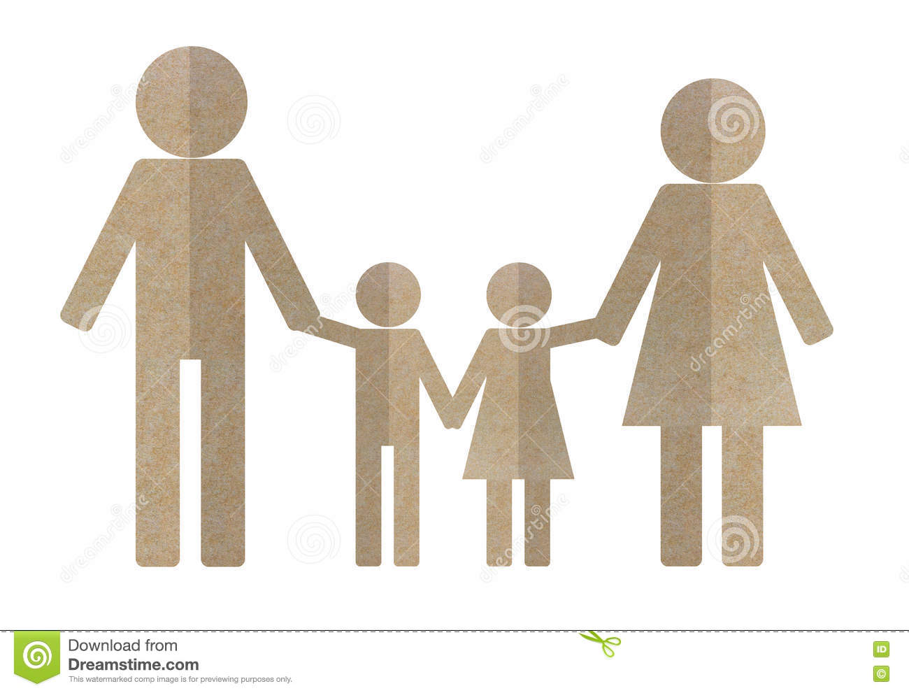 people paper cut out stock photo image of family business 82521538