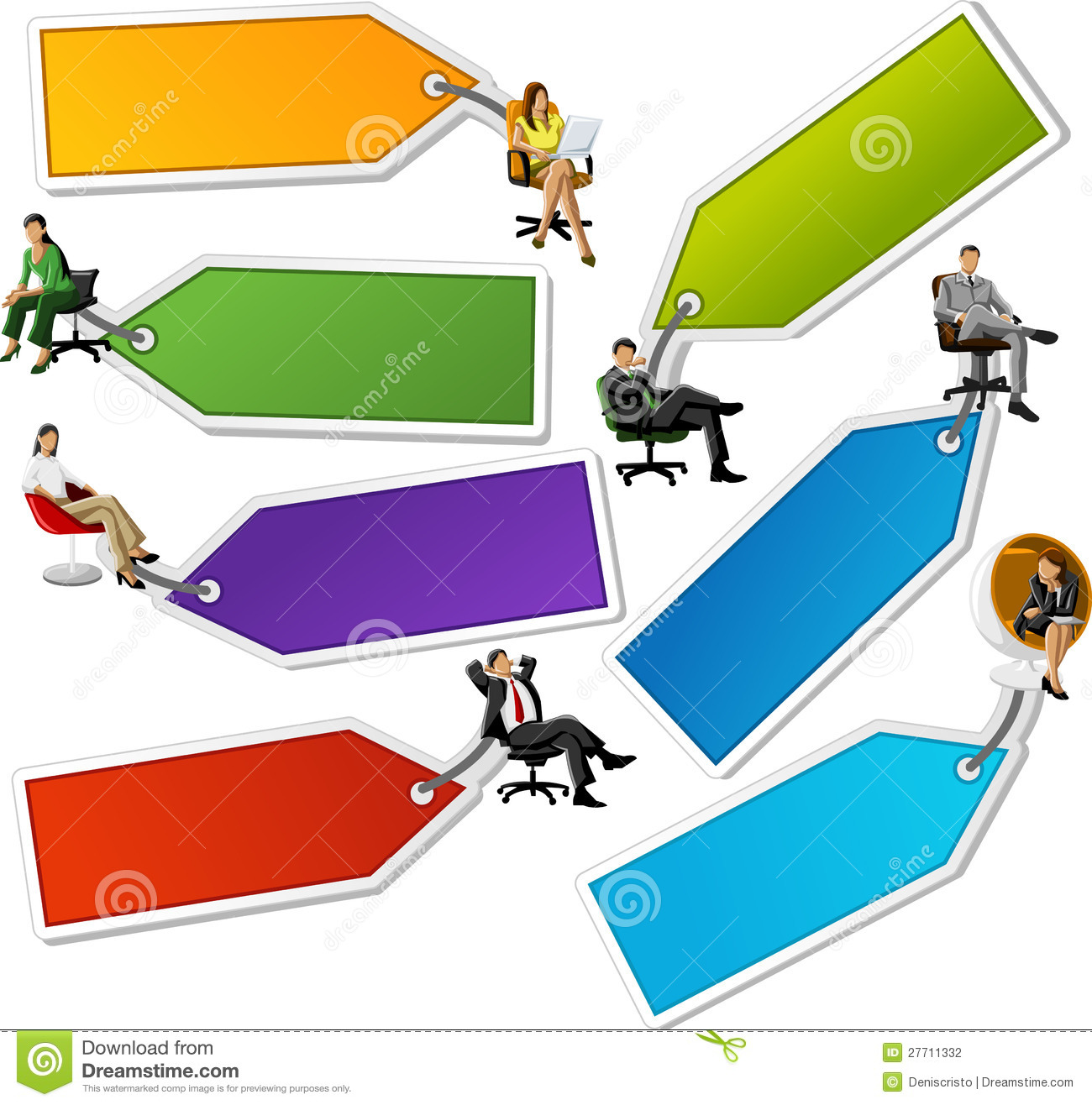People And Paper Labels Tags Stock Photography Image