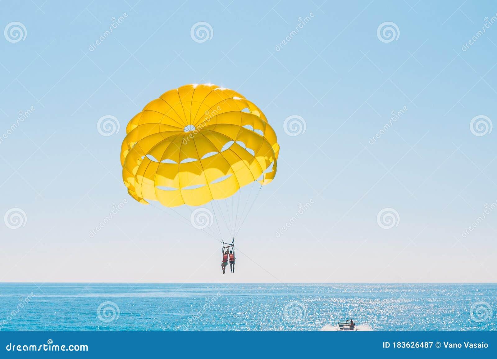Parasailing Parachute stock photo. Image of float, jumping