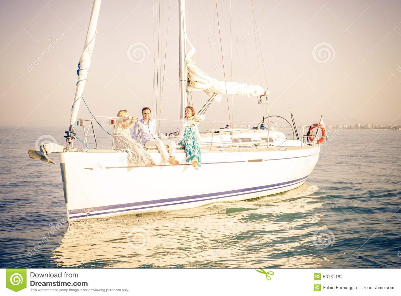 People partying on boat stock photo. Image of music ...