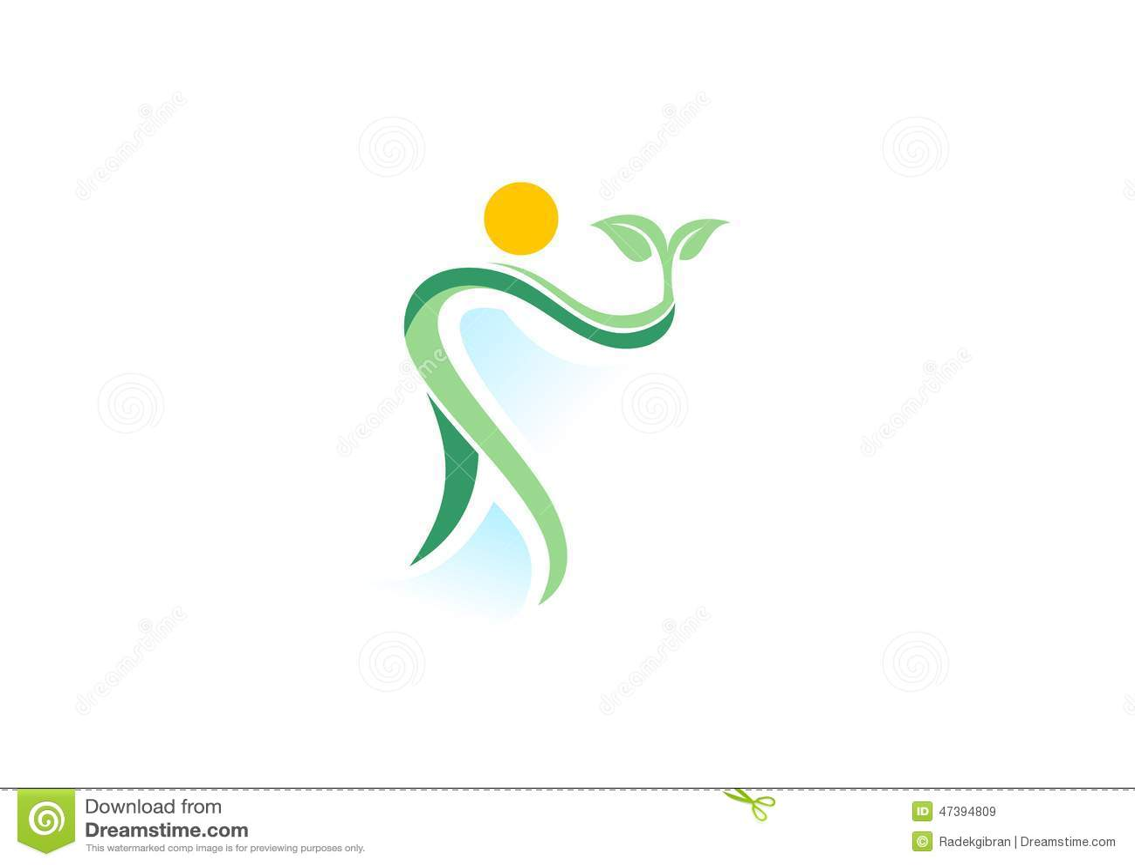 Spa wellness logo  People,plant,spa,logo,natural Health Wellness,ecology Symbol Icon ...