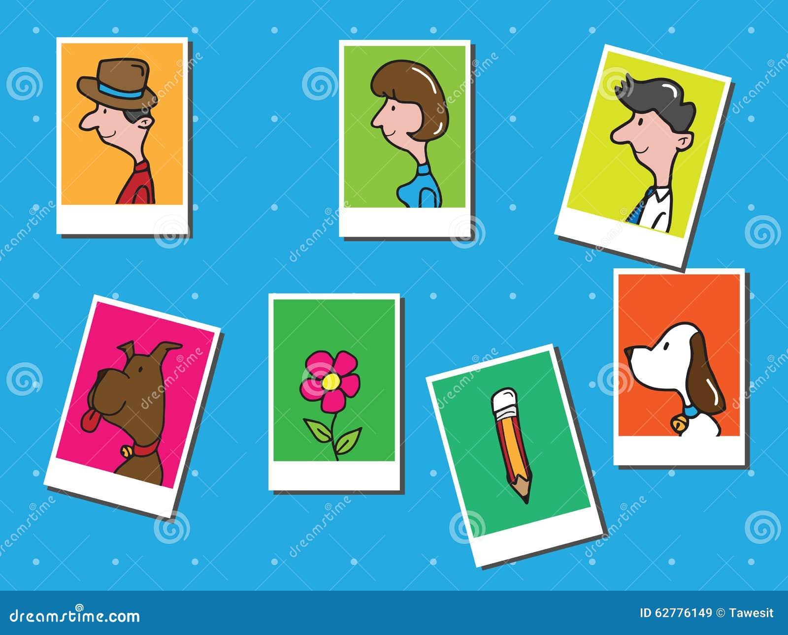 people in postcard frames