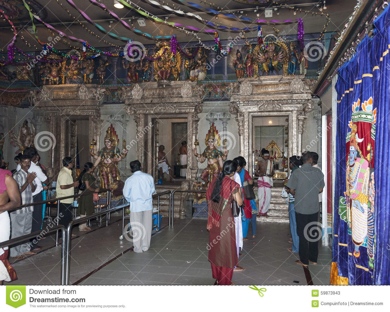 People Pray In Hindu Temple Editorial Stock Photo - Image ...