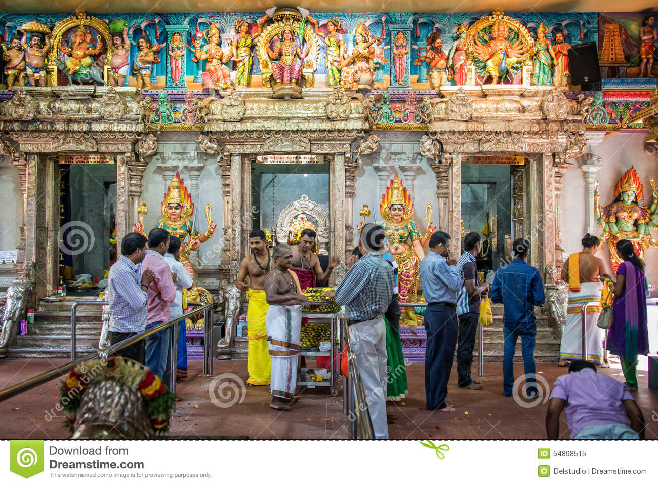People Praying Inside Sri Veeramakaliamman Temple In ...