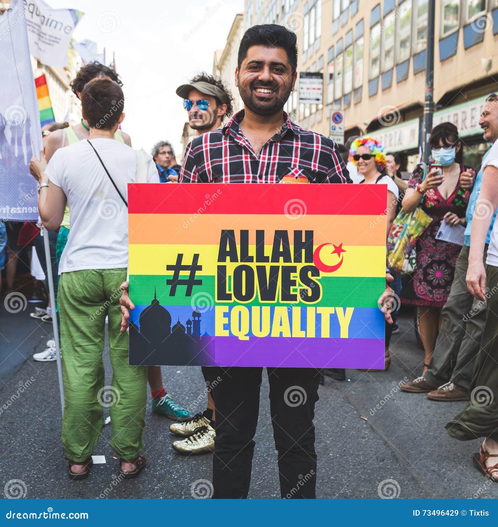 9cffb7b1b898 People At Pride 2016 In Milan