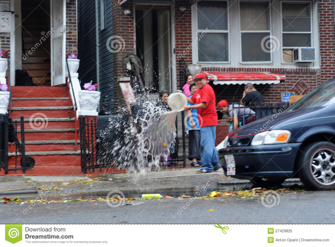people pumping water out of building basement editorial image image