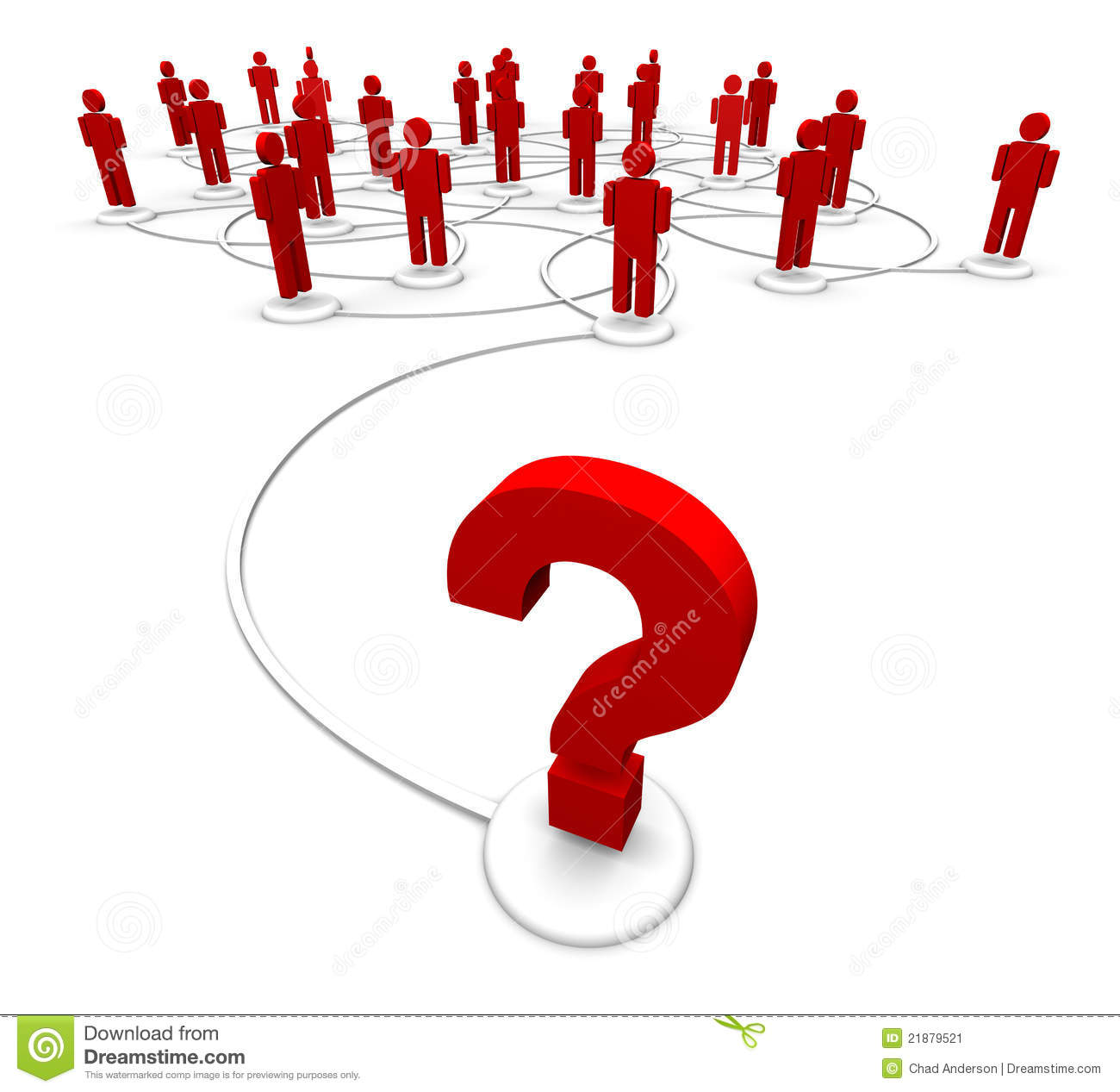 People and question marks stock image. Image of ...