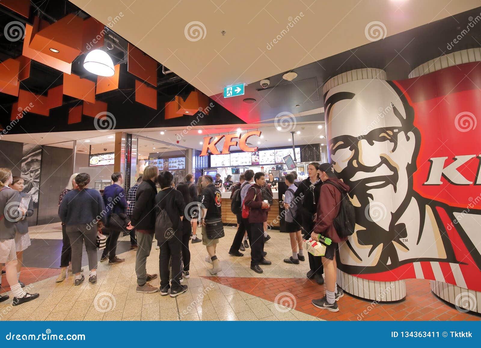 KFC fast food restaurant Melbourne Australia