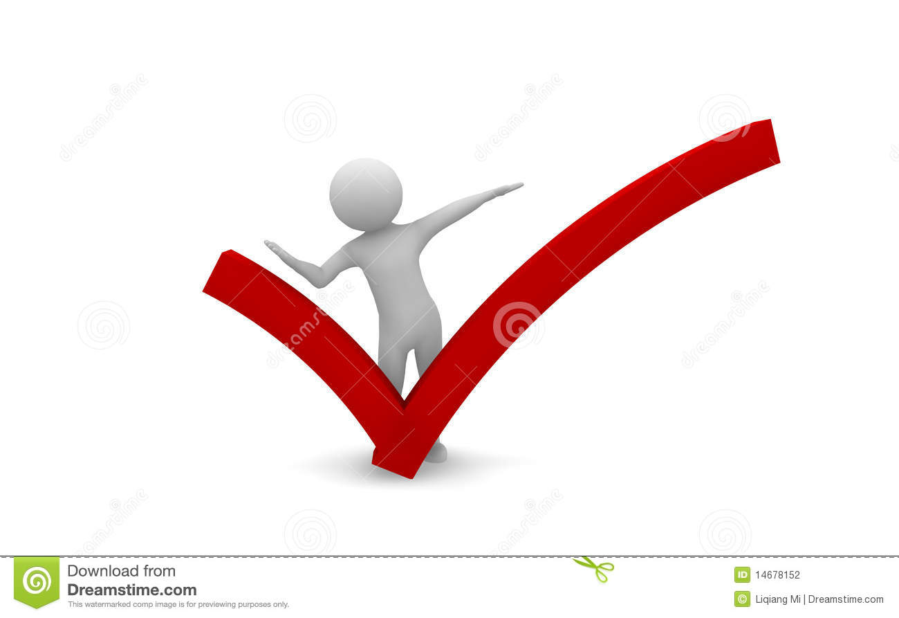 People With Red Check Mark Stock Illustration Illustration Of
