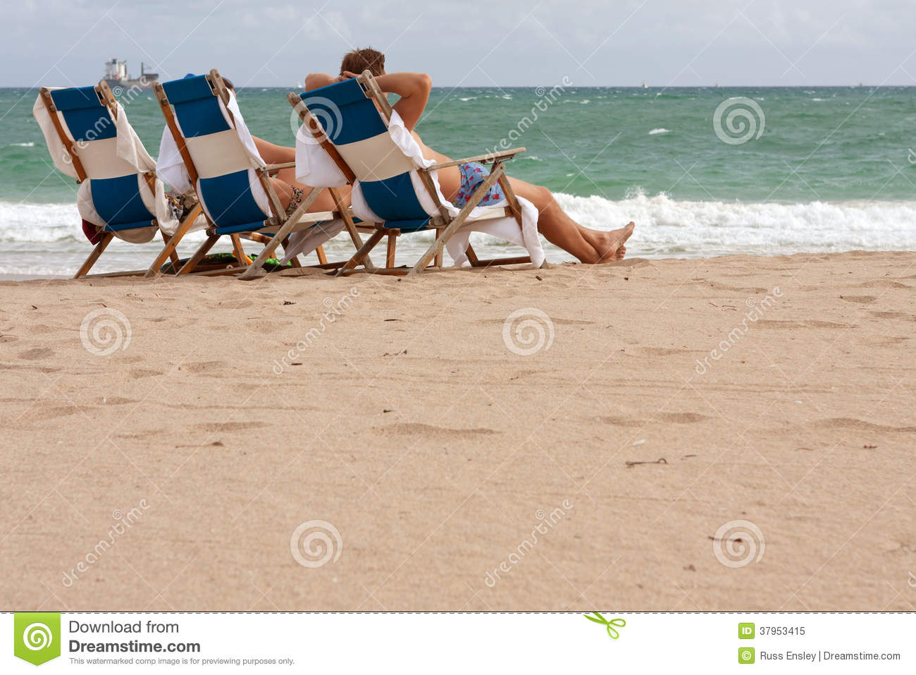 Download People Relax In Beach Chairs On Florida Beach Editorial Image    Image Of Chair,
