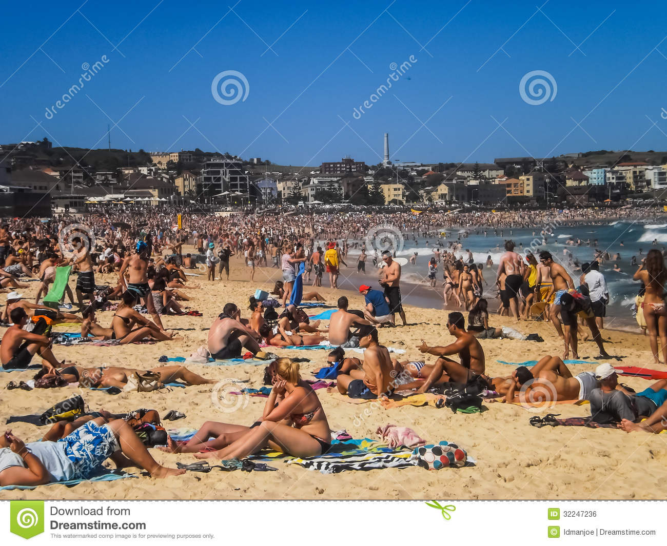 People Relaxing At Bondi Beach