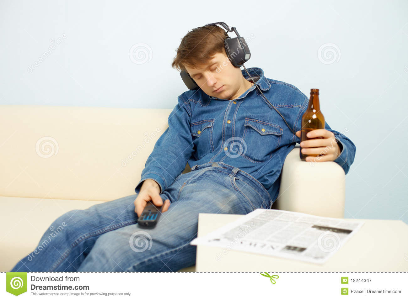 People Relaxing At Home After Work Royalty Free Stock