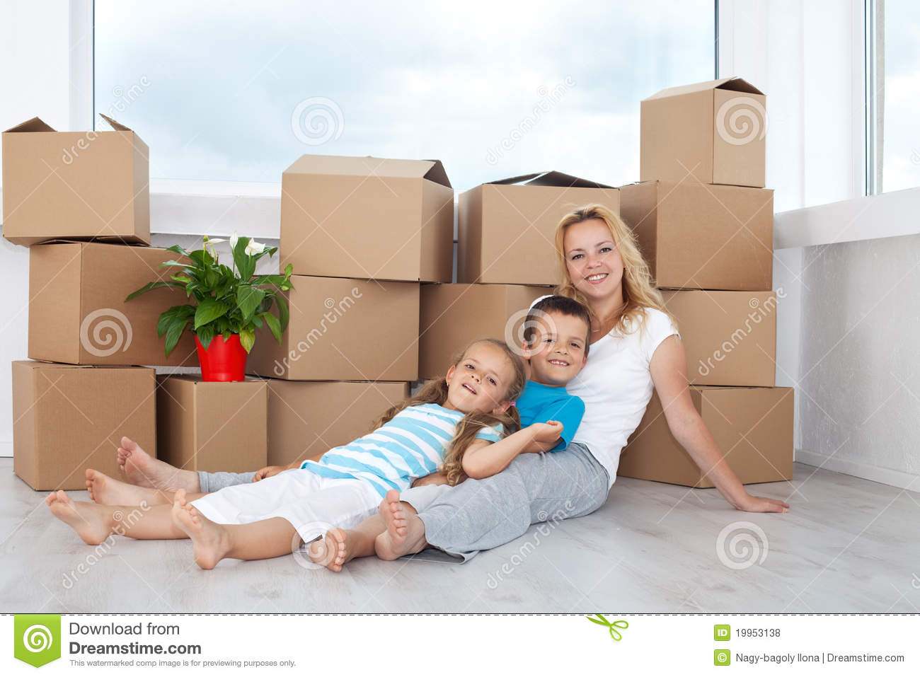 People Relaxing In A New Home Royalty Free Stock Photos ...