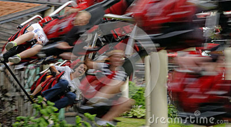 People on the roller coaster