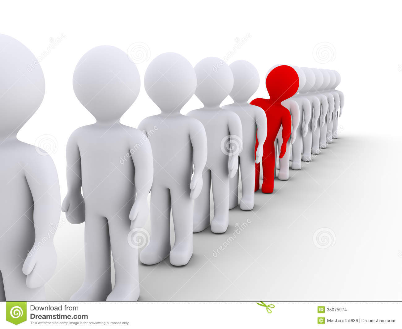 People Stand Out Clip Art