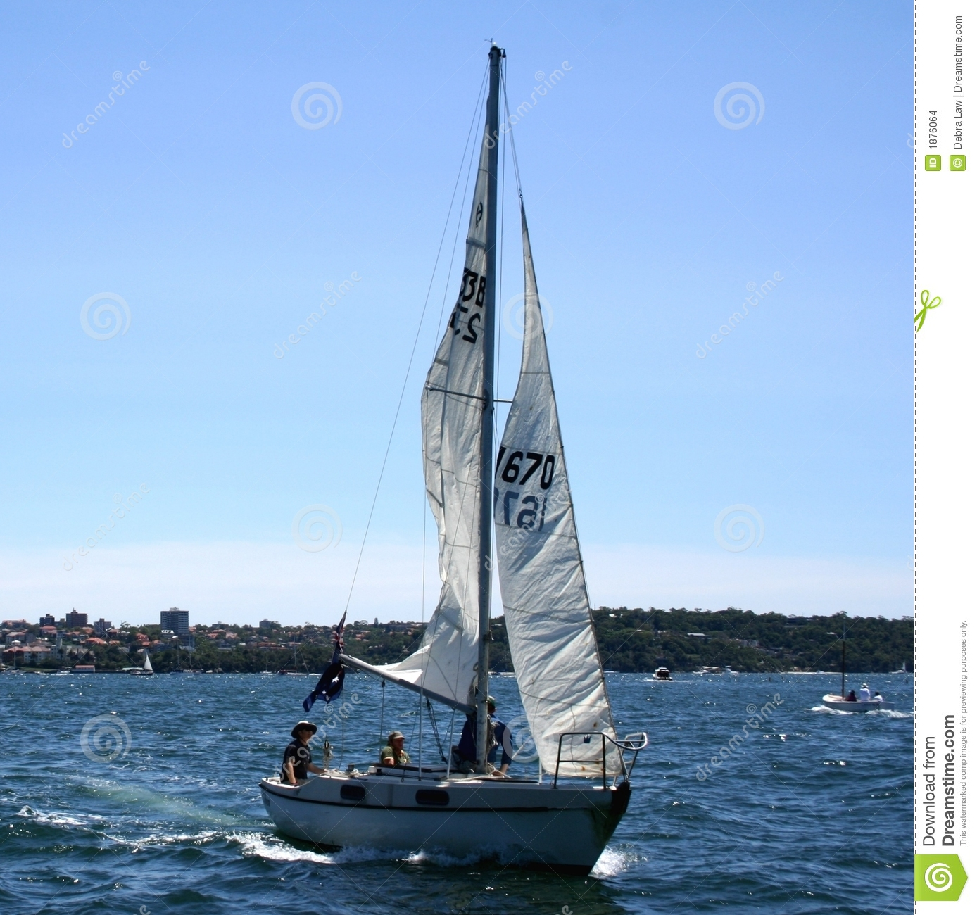 People Sailing Yacht In Sea Stock Images