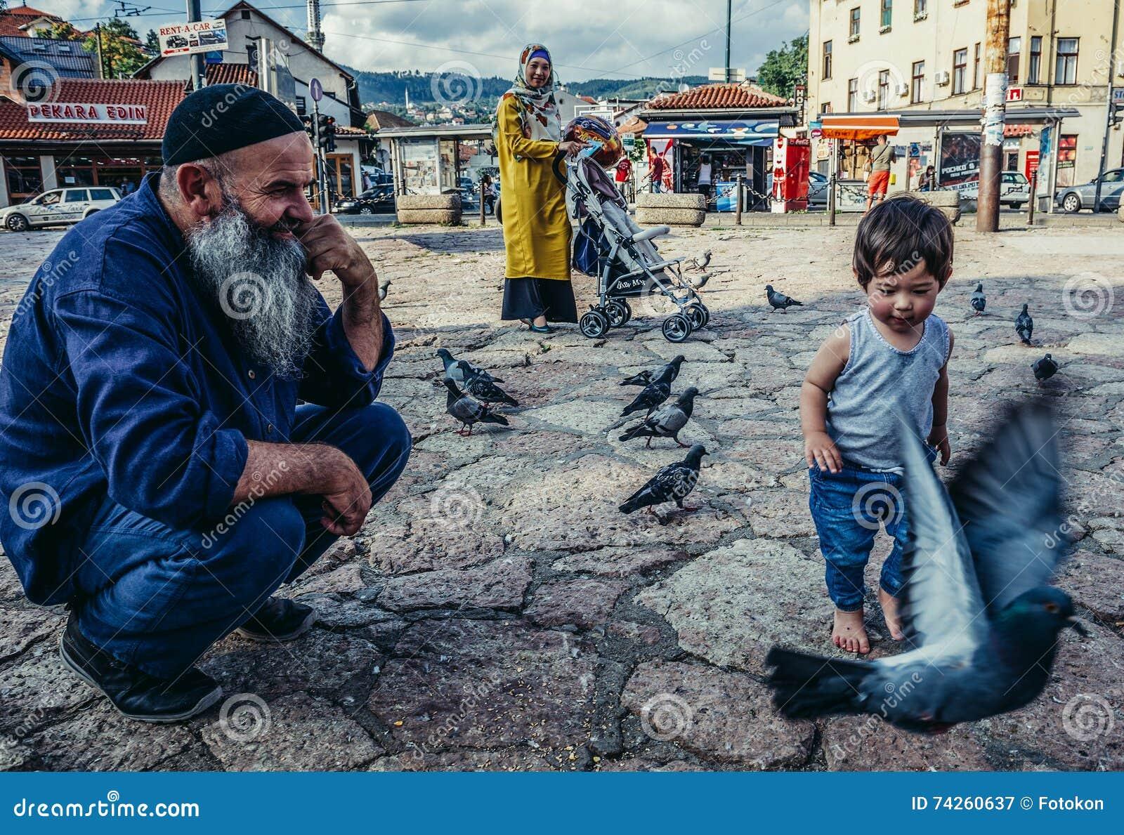 People in Sarajevo