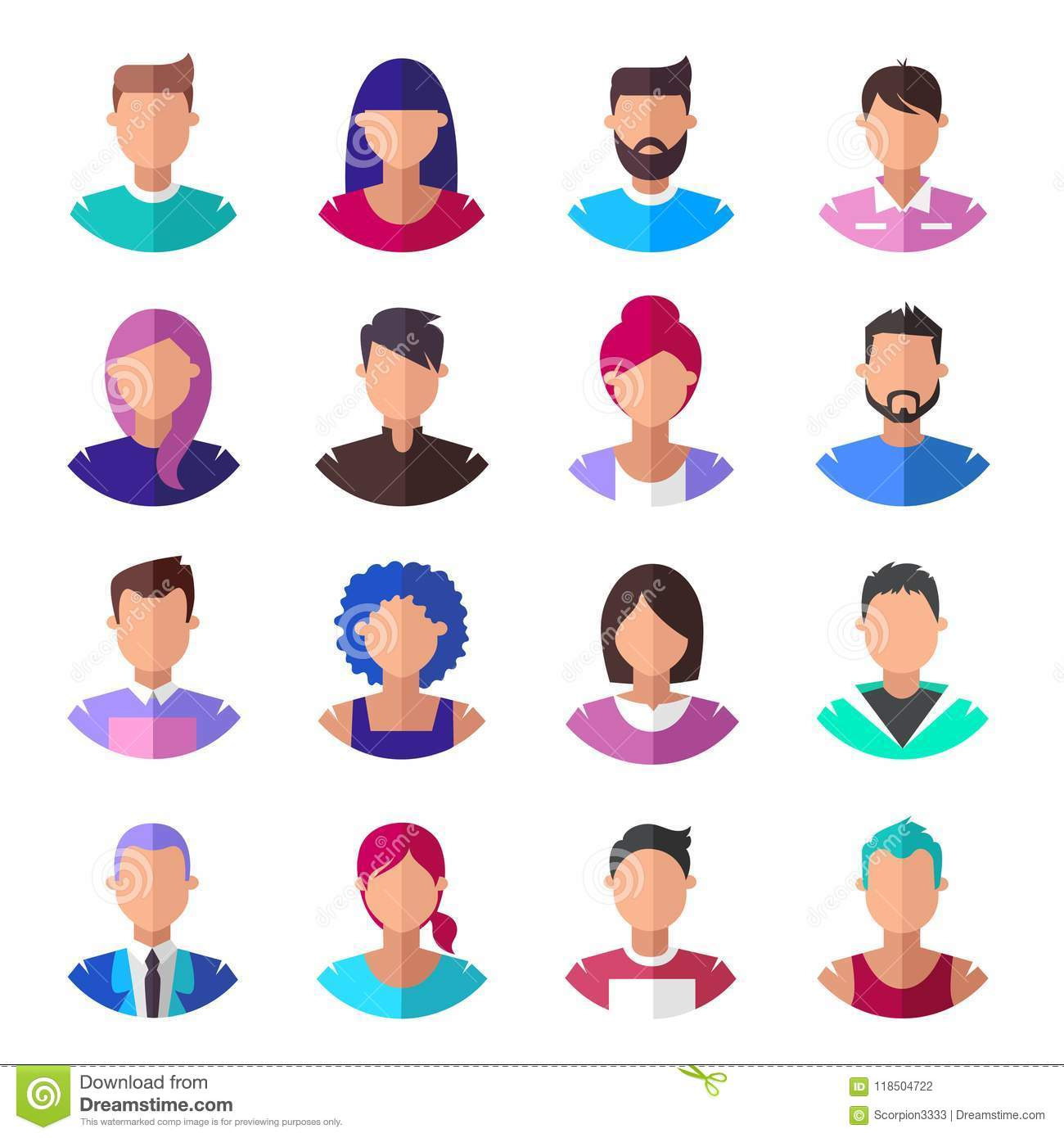 People. Set of modern icons