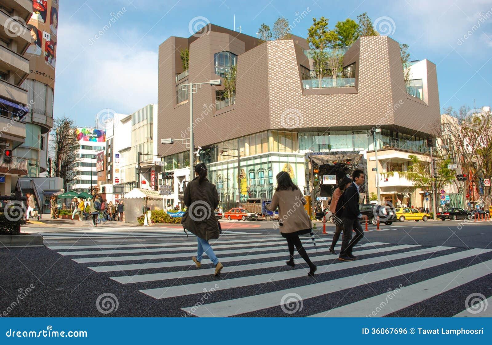 People Shibuya crossing Tokyo Japan