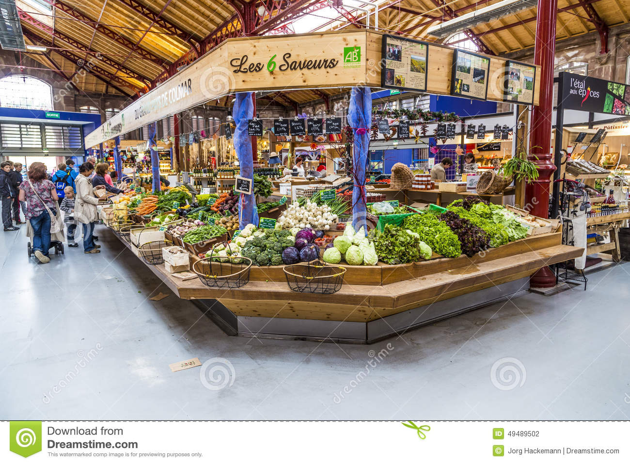 new product c488e 74dbe People Shop In The Old Market Hall In Colmar Editorial ...