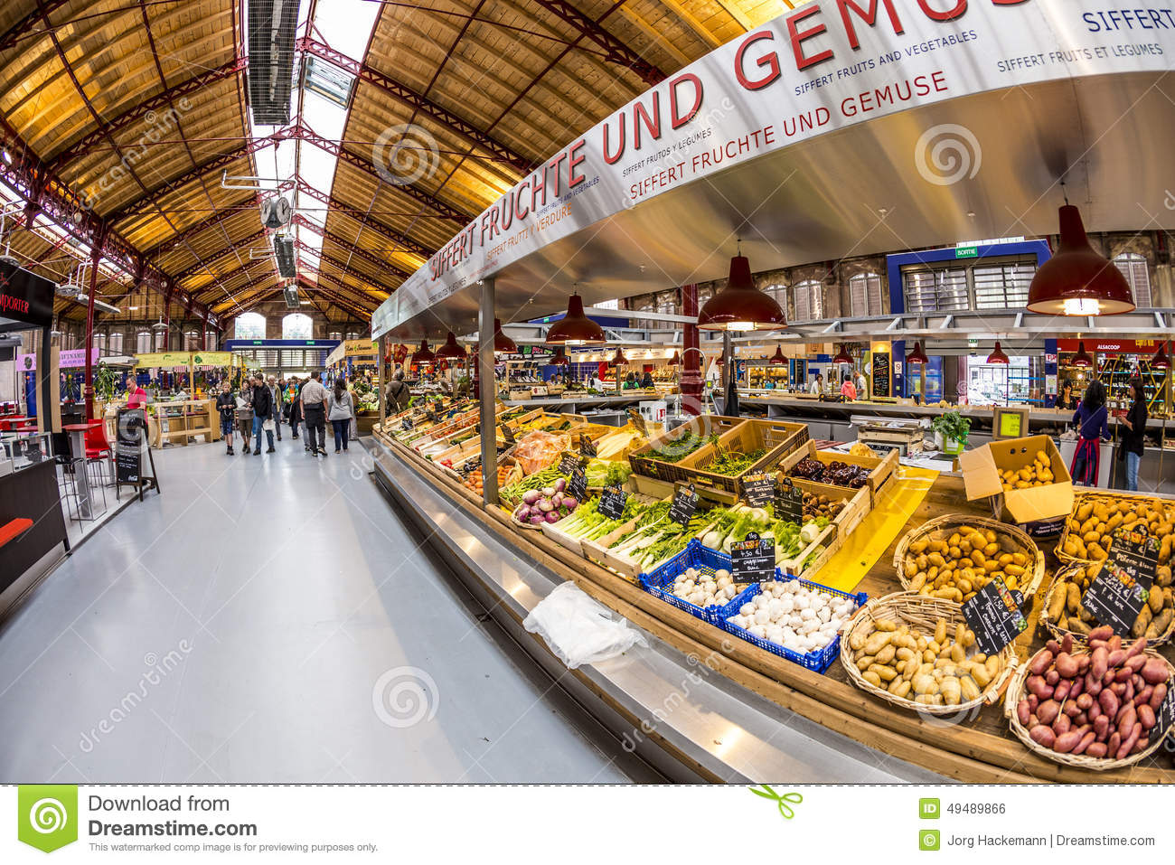 sale retailer 8d16c b6663 People Shop In The Old Market Hall In Colmar Editorial Photo ...