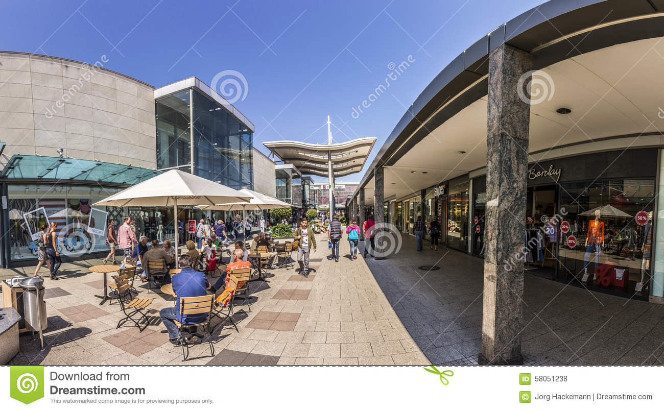People At Shopping Area In Mall Main Taunus Zentrum