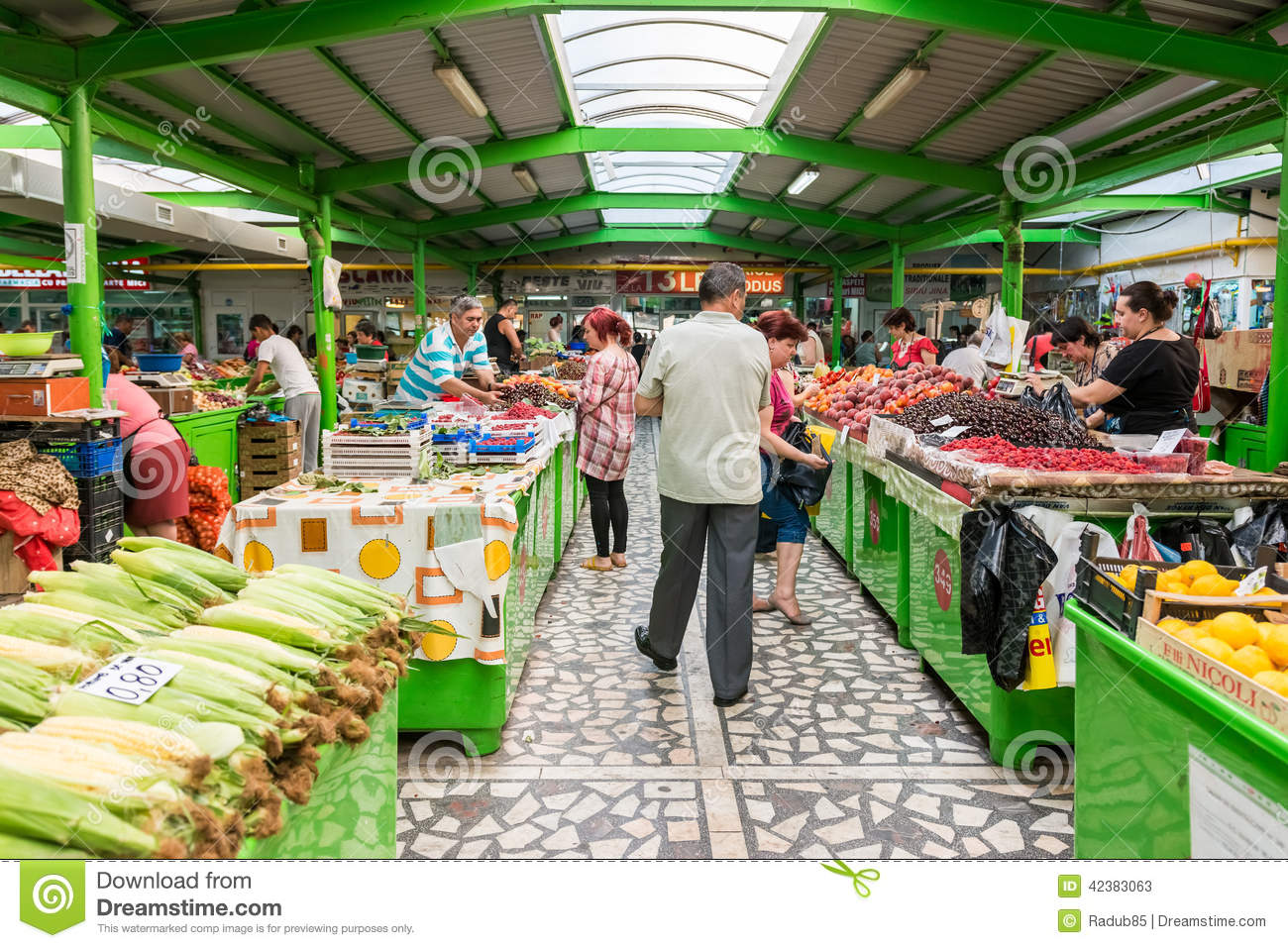 People Shopping For Fruits And Vegetables