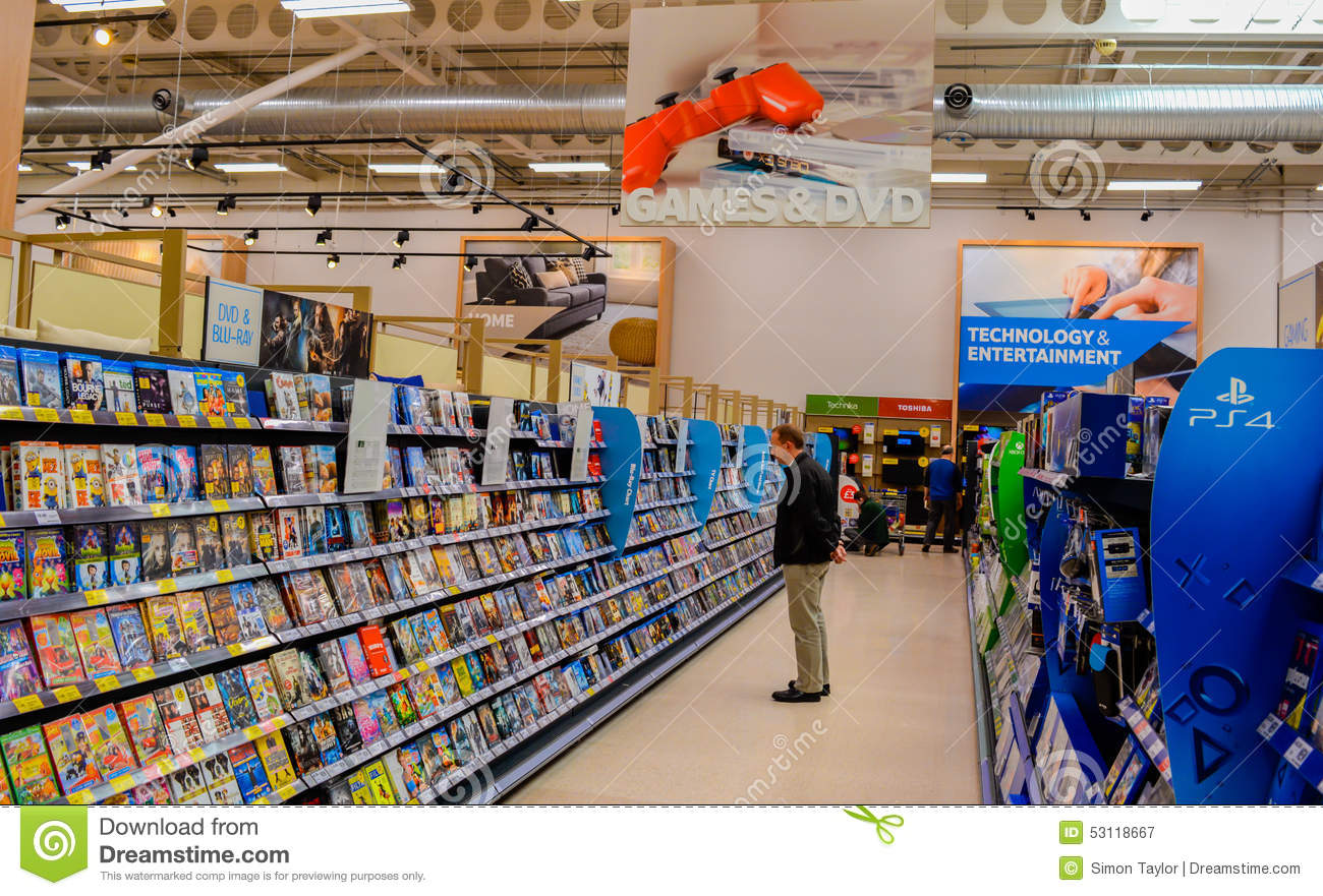People Shopping Games Amp Dvds Editorial Photography Image